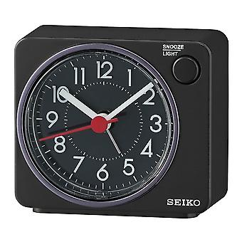 Seiko beep alarm clock plastic-zwart (QHE100K)