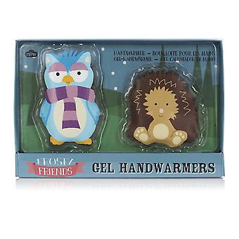 Frosty Friends Cute Reusable Gel Hand Warmers (Pair)