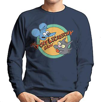 The Simpsons Itchy And Scratchy Show Men's Sweatshirt