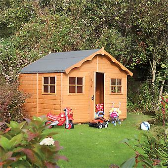 Rowlinson Playaway Tongue and Groove Wooden Lodge Playhouse - Dip Treated