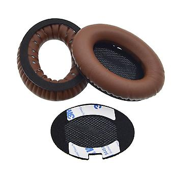 REYTID Remplacement Dark Brown Ear Pads Kit pour Bose QuietComfort 2 / QC15 / QC25 Headphones Cushions - 1 Paire Earpads