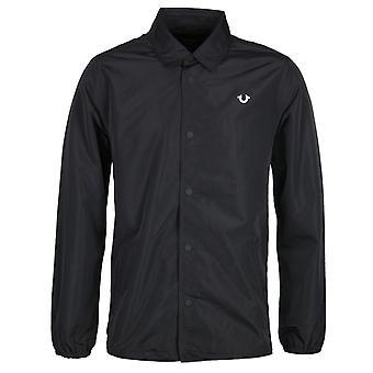 True Religion Black Coach Jacket