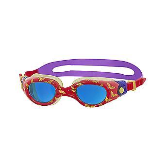 Zoggs Wonder Woman Kids afgedrukt zwemmen Goggles rood/geel/paars 0-6 jaar