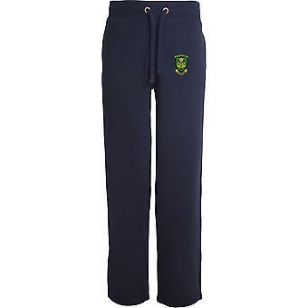 Royal Artillery 29 Commando Regiment - Licensed British Army Embroidered Open Hem Sweatpants / Jogging Bottoms
