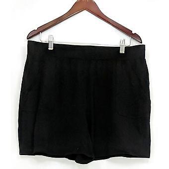 N'importe qui femmes-apos;s Shorts Loungewear Cozy Knit w/ Pockets Black A306954