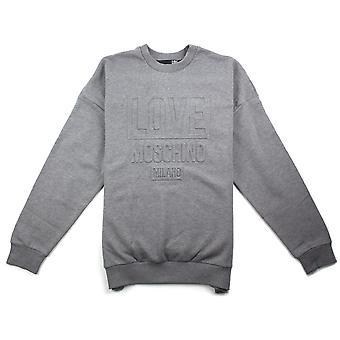 Love Moschino Grey 3D Print Sweatshirt Love Moschino Grey 3D Print Sweatshirt Love Moschino Grey 3D Print Sweatshirt Love Mos