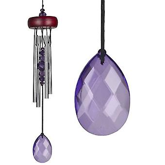 Violet Gem Drop Crystal Chime