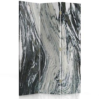 Room Divider, 3 Panels, Single-Sided, Canvas, Marble
