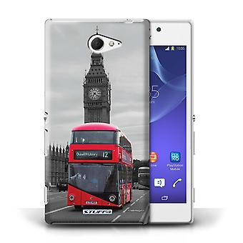 STUFF4 Case/Cover for Sony Xperia M2/Red Bus/London Sites