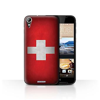 STUFF4 Case/Cover for HTC Desire 830/Switzerland/Swiss/Flags
