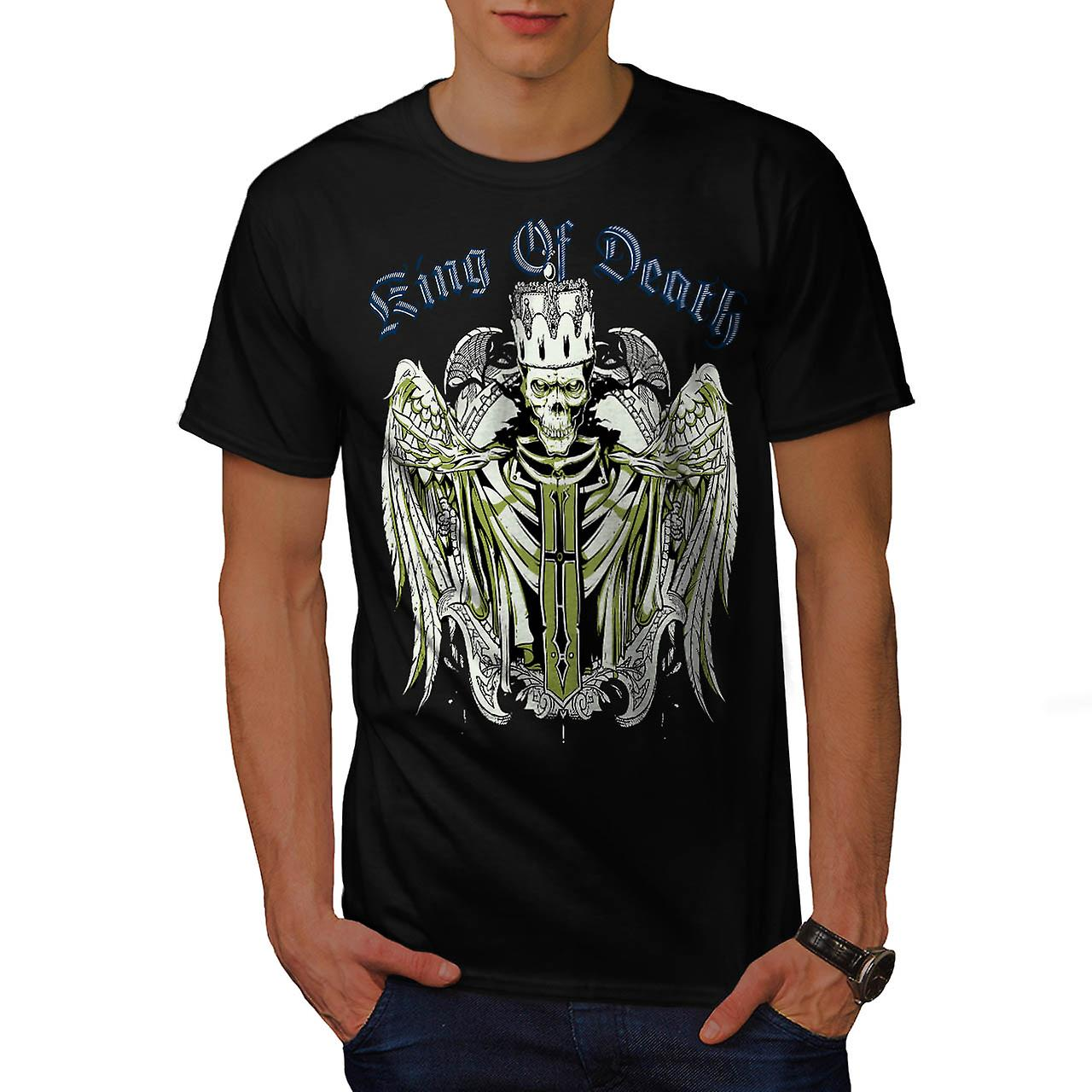 King Of Death Thrones Dead Skull Men Black T-shirt | Wellcoda