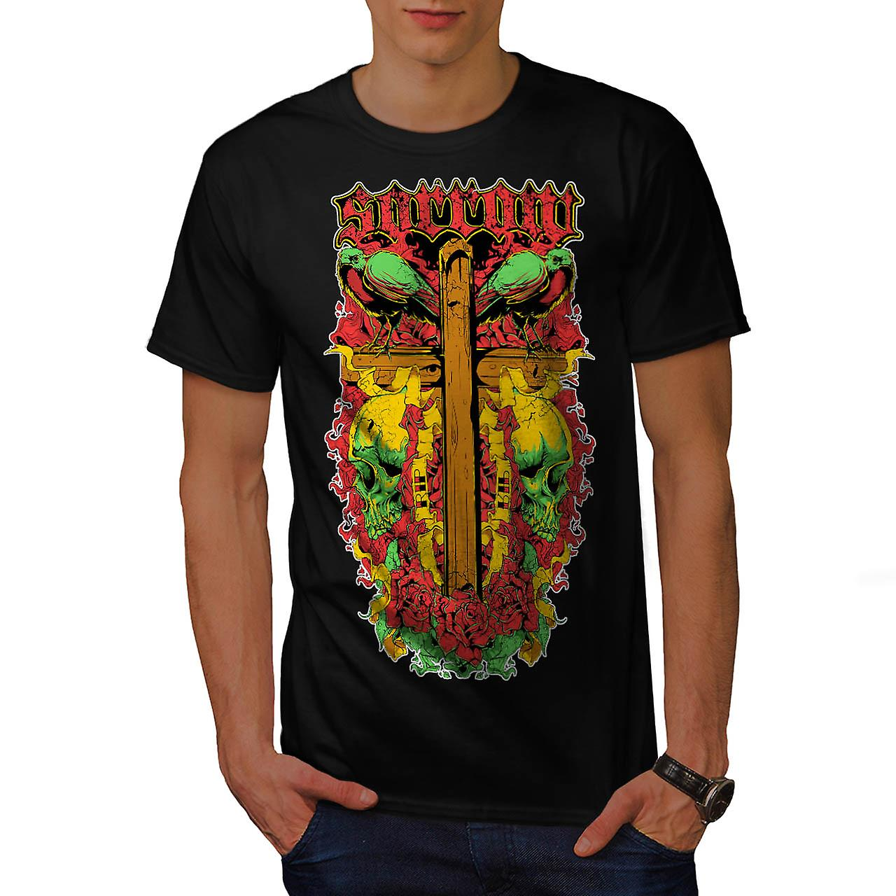 Sorrow Vintage Fantasy Men Black T-shirt | Wellcoda