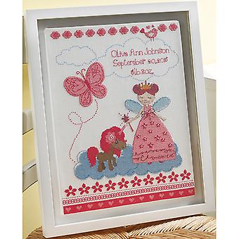 Fairytale Princess Birth Record Counted Cross Stitch Kit-10