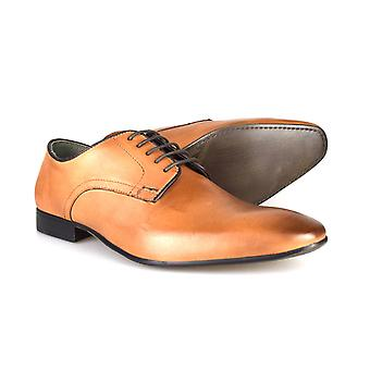 Silver Street London Baker Mens Tan Leather Formal Shoes