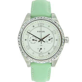 Fossil Women clock wristwatch leather BQ1226