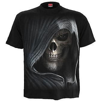 Spiral Direct Darkness Mens Black Tshirt Top Death Reaper Skull Skeleton Timer