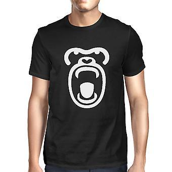 Gorilla Face T-shirt Halloween Tee Cute Mens Graphic Shirt For Zoo