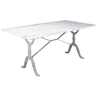 Aubray Large Marble Granite Kitchen Dining Table Cast Iron Legs: Bottocino - Marble