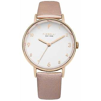 Fiorelli Womans Rose Gold Metallic Strap White Dial FO037RG Watch