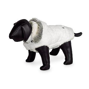 Nobby Polar Dog Coat White With Hood 36cm