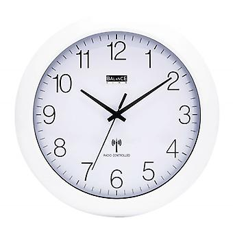 Balance the Radio-Controlled Wall Clock 30 cm Analogue White/Silver