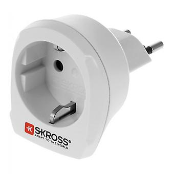 SKROSS travel adapter, from the EU to Switzerland, grounded, 100-240V/10A white