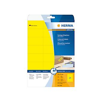 Labels yellow 70x37 Herma A4 480 pcs.