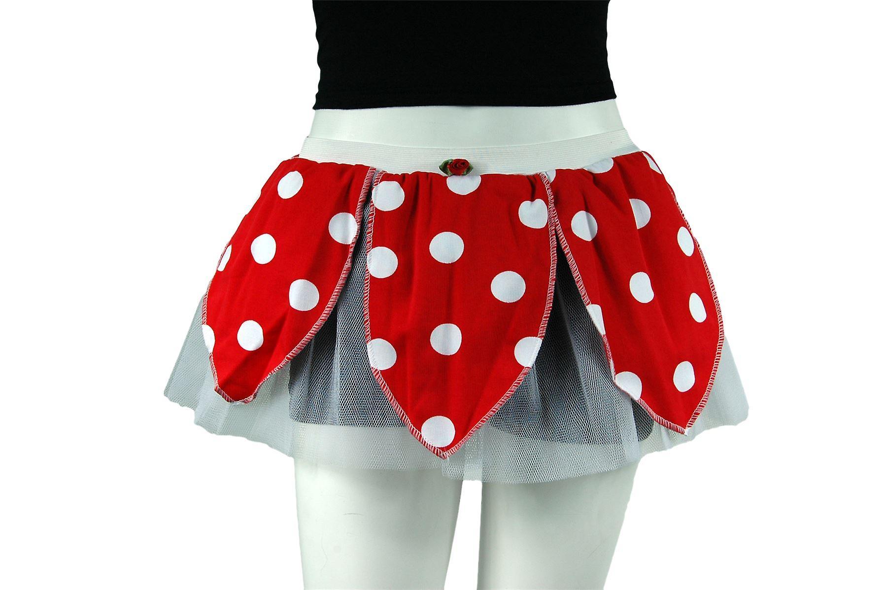 Insanity Red & White Minnie Polka Dot Tutu Skirt