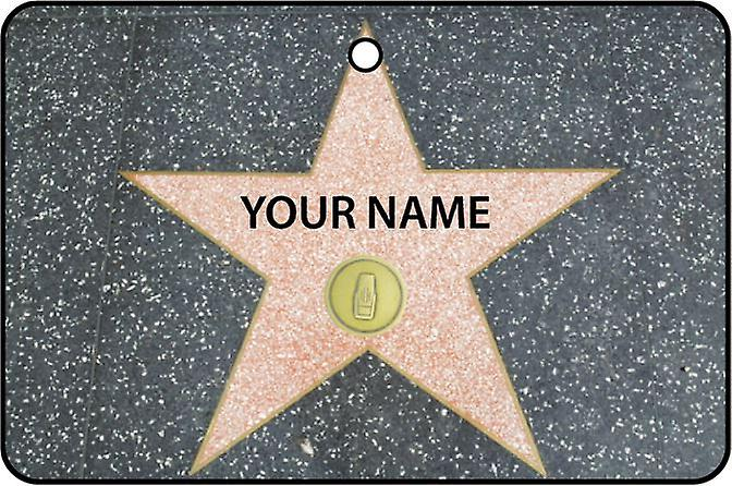 Personalised Hollywood Walk Of Fame - Radio Category Car Air Freshener