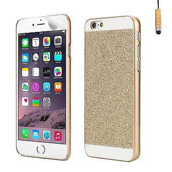 Glitzer Case Cover für Apple iPhone 6 Plus (5,5 Zoll) - Gold