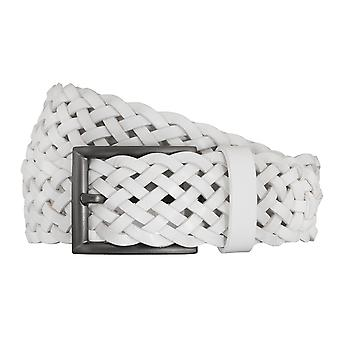 SAKLANI & FRIESE belts men's belts leather belt woven belt white 1622