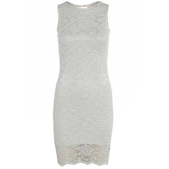 Jane Norman White Lace Sleeveless Dress DR478-10