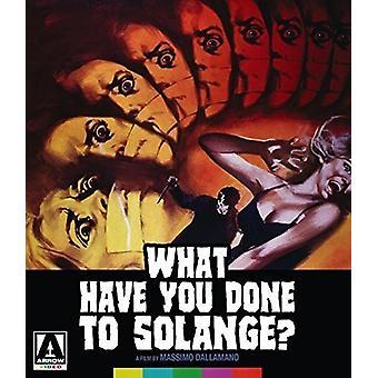 Hvad har du gjort til Solange [Blu-ray] USA import