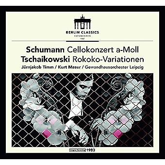 Tchaikovsky / Schumann / Timm - Schumann y Tchaikovsky: Concierto para violonchelo [vinilo] USA importar