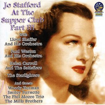 Jo Stafford - på the Supper Club Pt. 3 [CD] USA import
