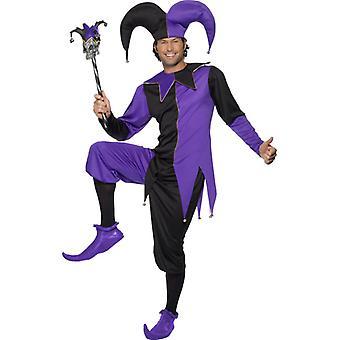 Harlekin kostyme middelalderske hoff jester tosk drakt Eulenspiegel