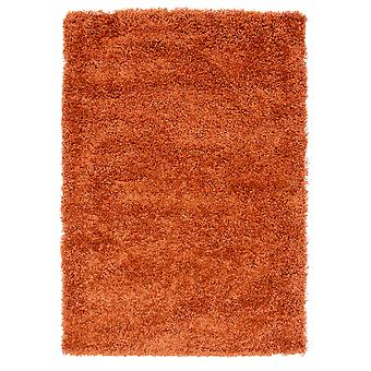Terracotta Orange Shaggy Rug Ontario