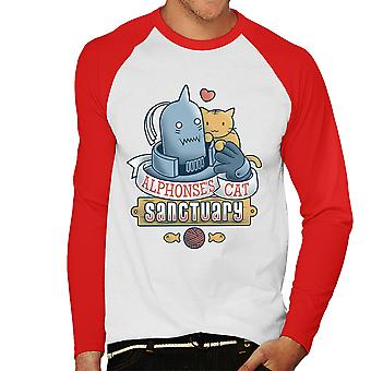 Alicesanco kat Sanctuary Full Metal Alchemist mænds Baseball langærmet T-Shirt