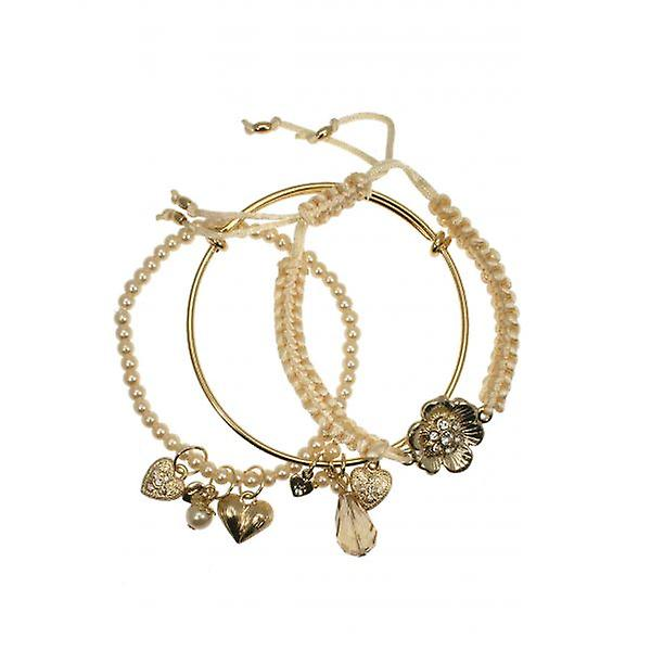 W.A.T Sanctuary Daisy Flower Bracelet Set By Martine Wester