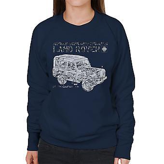 Haynes Workshop Manual Land Rover Camo Black Women's Sweatshirt
