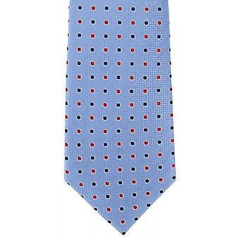 Michelsons of London Two Tone Colour Spot Silk Tie - Blue