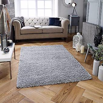 Harmony Gris Gris Rectangle Tapis unis / Près de plaine Tapis
