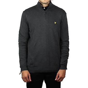 Lyle & Scott 1/4 Zip Merino Blend puente (carbón Marga)
