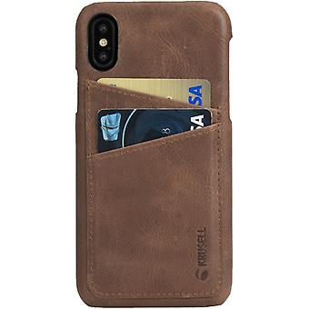 Krusell Sunne leather cover cover for Apple iPhone X 5.8 leather protective case cover cognac