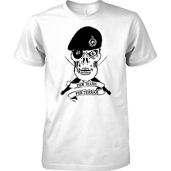 Royal Marines Skull - pro Mare pro Terram - Elite Commando - T-Shirt für Herren