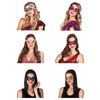 Adults Masquerade Sequin Eye Mask Fancy Dress Accessory