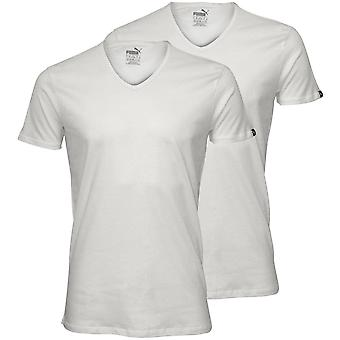 Puma 2-Pack v-hals T-Shirts, wit
