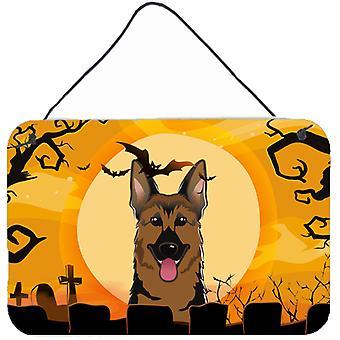 Halloween-Deutscher Schäferhund-Wand oder Tür hängen Drucke