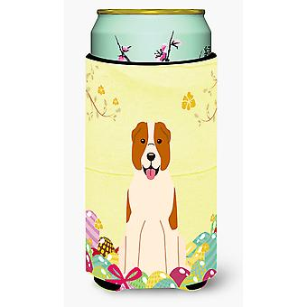 Easter Eggs Central Asian Shepherd Dog Tall Boy Beverage Insulator Hugger