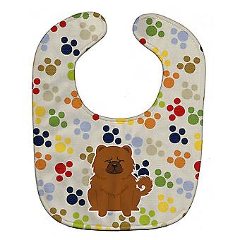 Carolines Treasures  BB5971BIB Pawprints Chow Chow Red Baby Bib